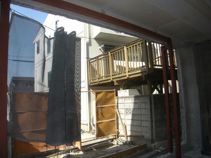 社屋改修鉄骨工事の工事写真