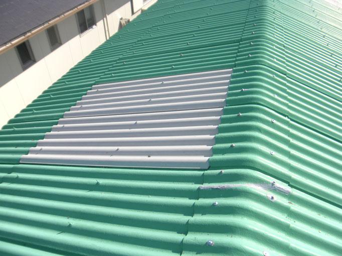 スレート屋根葺き替えの工事写真