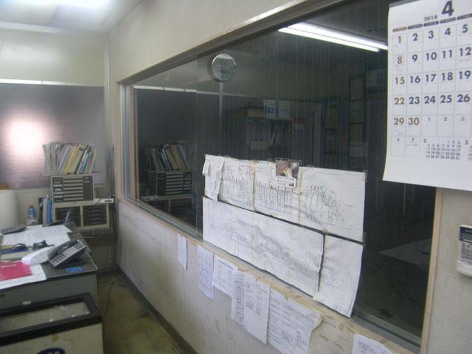 管理室破損部改修工事の工事写真