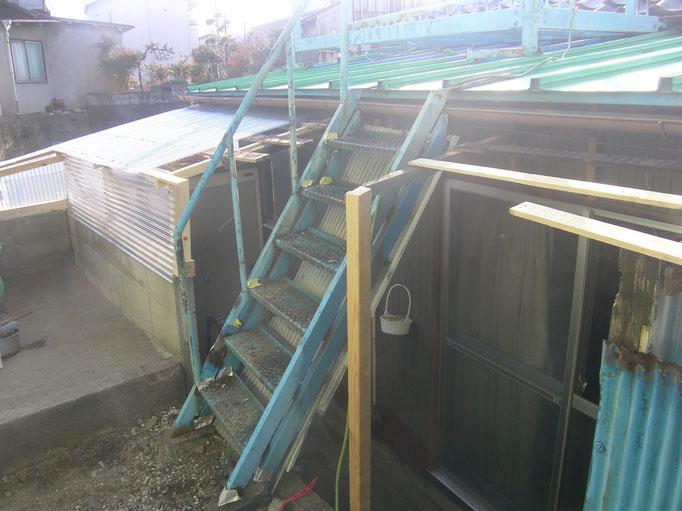 物干し場解体工事の工事写真