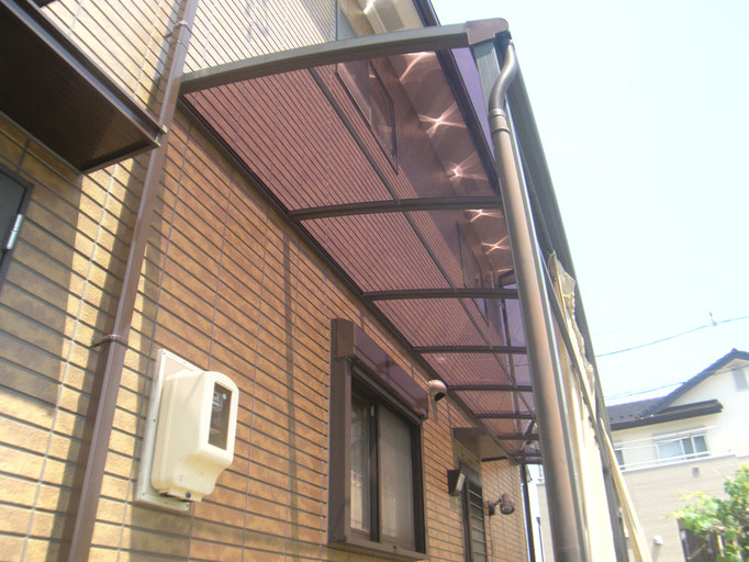 テラス屋根張替え工事の工事写真