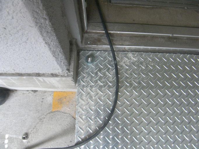 スロープ新設工事の工事写真