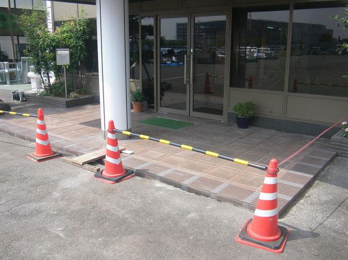 アプローチ改修工事の工事写真