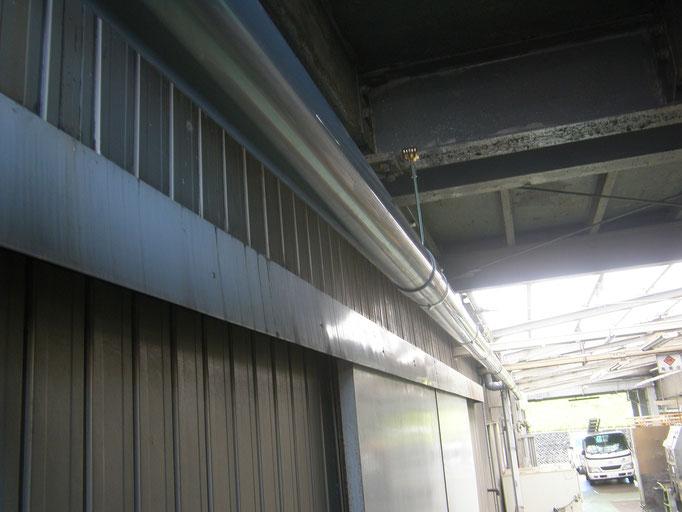 雨樋取替工事の工事写真
