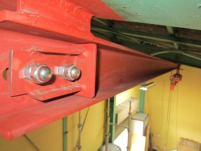 クレーンレール増長工事の工事写真