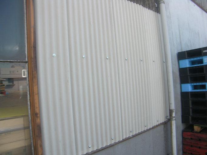 小波スレート張替工事の工事写真
