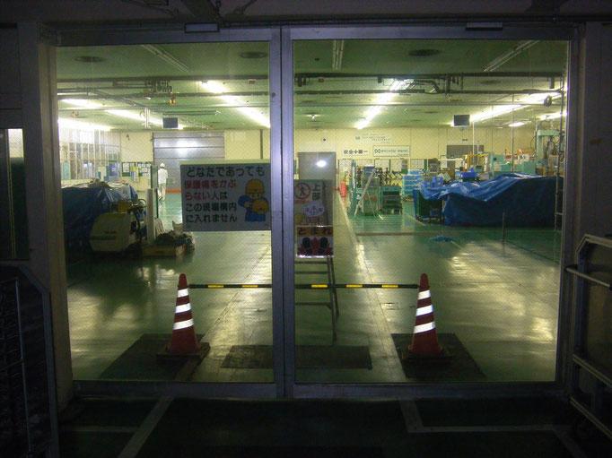 仮間仕切り工事の工事写真