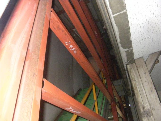 壁下地鉄骨工事の工事写真