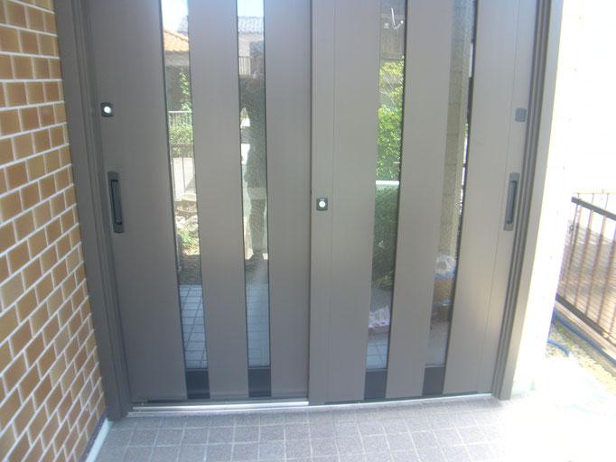 リシェント玄関ドア②の工事写真