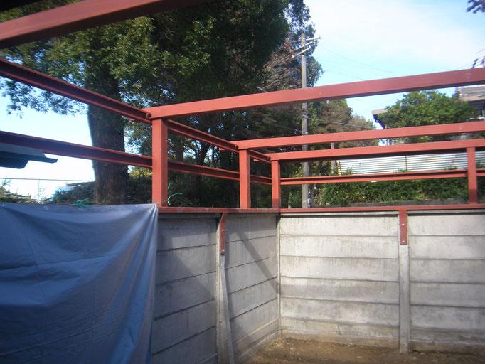 ガレージ改修工事の工事写真
