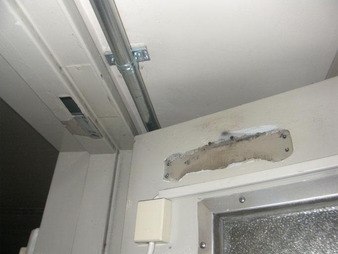 Pタイル床改修工事の工事写真