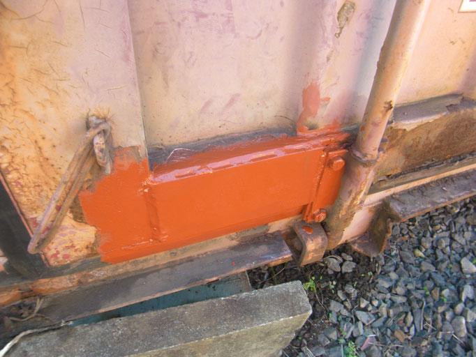 コンテナ溶接修理作業:工事写真