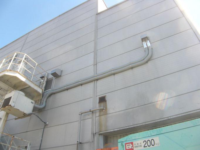 ダクトホース取替工事の工事写真