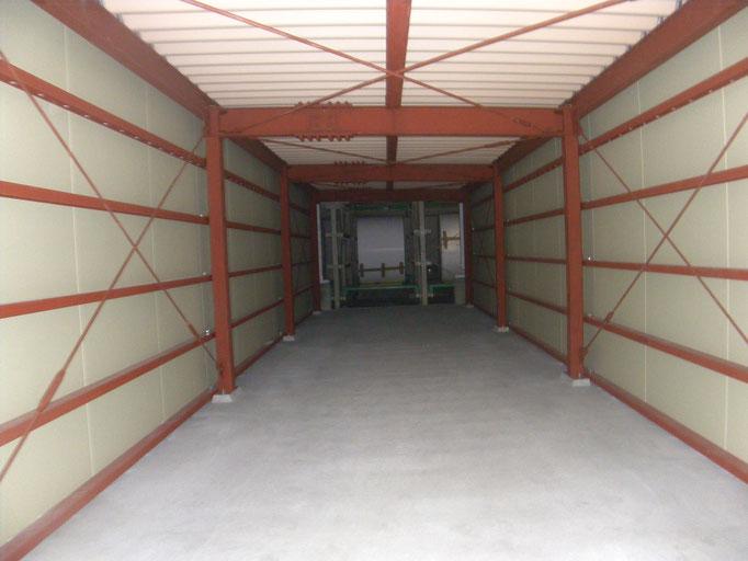 製品搬送通路新築工事の工事写真