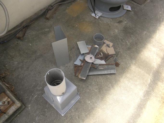 雨樋(庇)改造工事の工事写真
