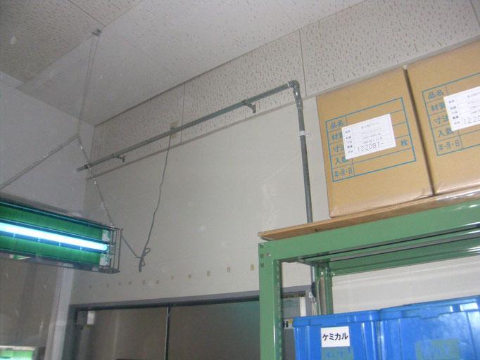 エアー配管増設工事の工事写真