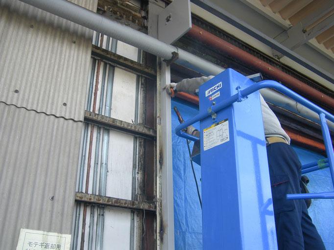 電動シャッター改修工事の工事写真