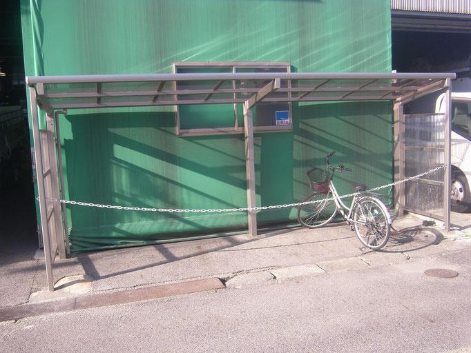 サイクルポート新築工事の工事写真