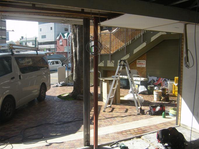 壁及びサッシ下地工事の工事写真