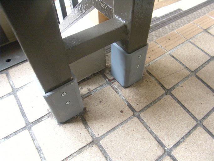 腐食手摺支柱補強工事の工事写真