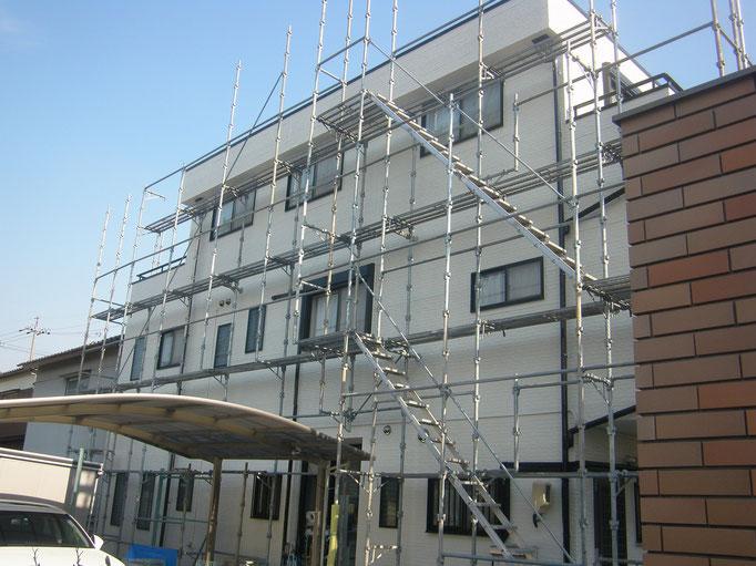 個人住宅塗装リフォームの工事写真