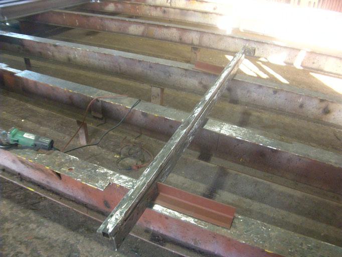保護アングル改修工事の工事写真