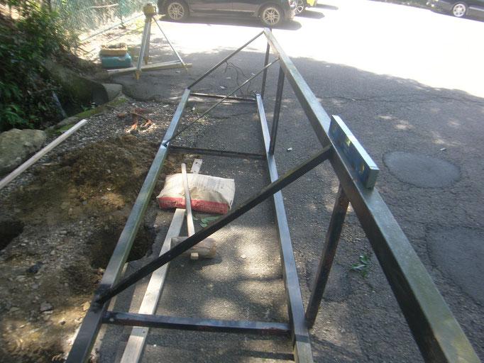 立て看板移設工事の工事写真