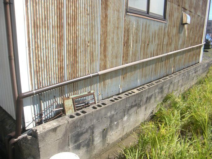 社屋外装復旧工事の工事写真