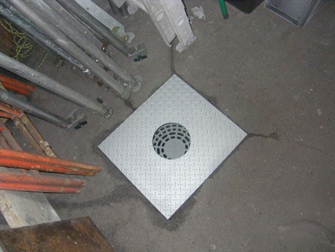 マンホール蓋取替工事の工事写真