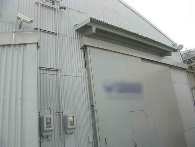スレート工場塗装工事の工事写真
