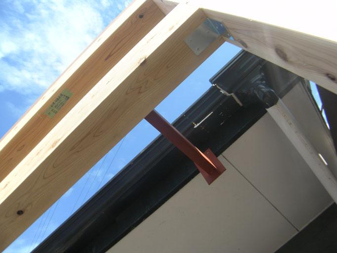 店舗改修鉄骨工事の工事写真