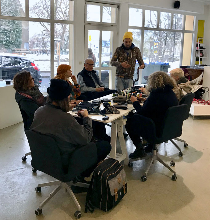 JOS – Moviekiller Workshop 2  | 16. Dez 2018, RUBRECHTCONTEMPORARYgalerie, Wiesbaden (Impressionen, credit: LR)