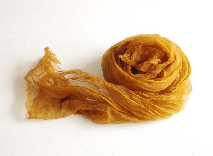 熊野番茶染め スカーフ(無地・銅媒染)