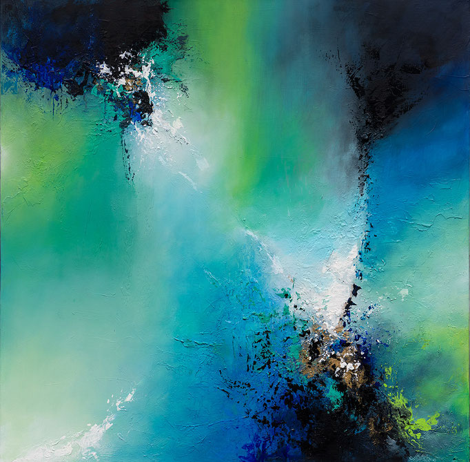 UNDER THE SEA1, Mischtechnik auf Leinwand, mixed media on canvas, verkauft, sold, Prints erhältlich, prints available