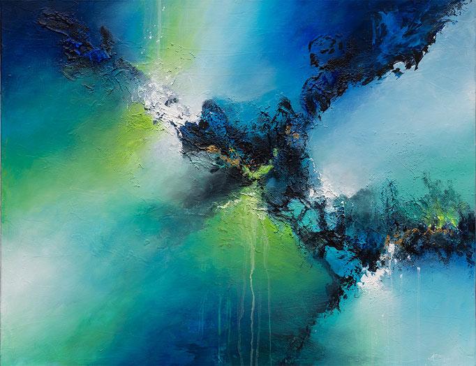 UNDER THE SEA2, Mischtechnik auf Leinwand, mixed media on canvas, verkauft, sold