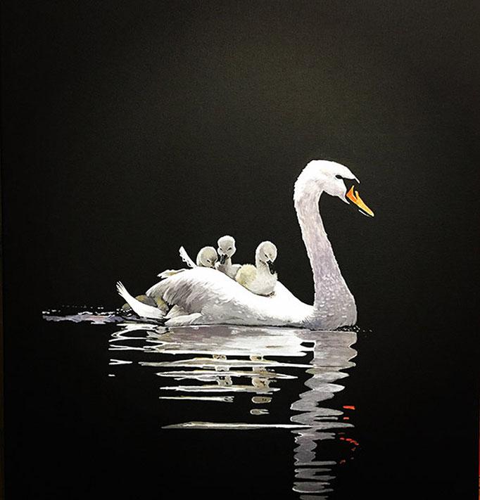SCHWAN, Acryl auf Leinwand, acrylic on canvas, verkauft. sold
