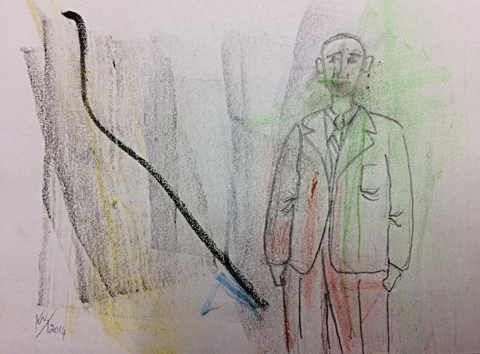 Zeichnung: Porträt des Vaters