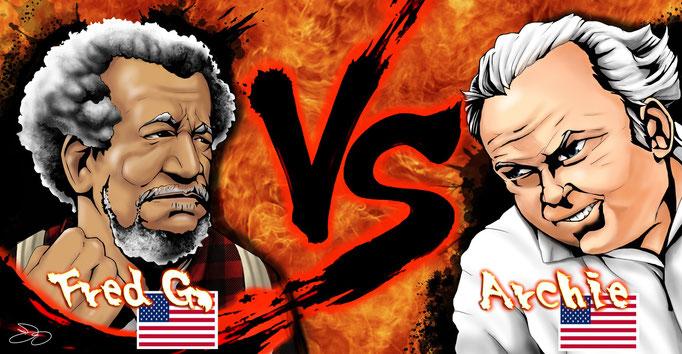 Mascot Mashup #3: Fred Sanford vs Archie Bunker