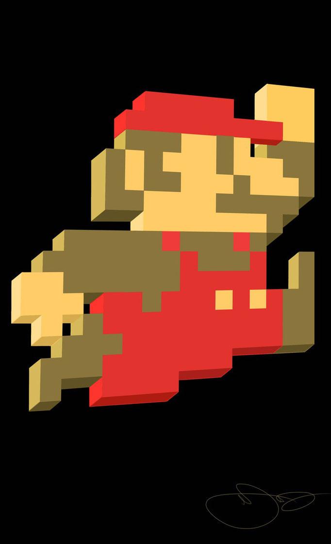 8Bit Mario in 3D