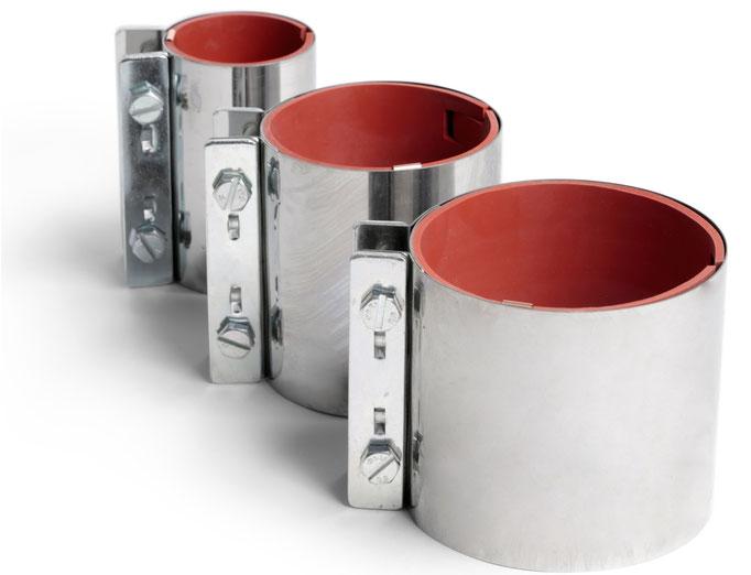 Rohrkupplung Edelstahl, Rohrkupplung leichte Ausführung