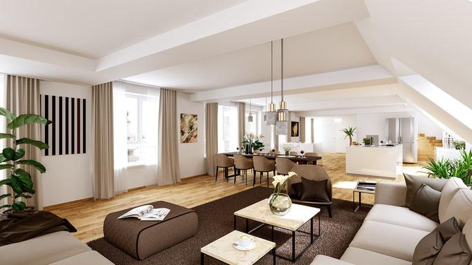 <i>LOFT </i><i>Klient: Loft-Immobilien im Zentrum von Linz</i>