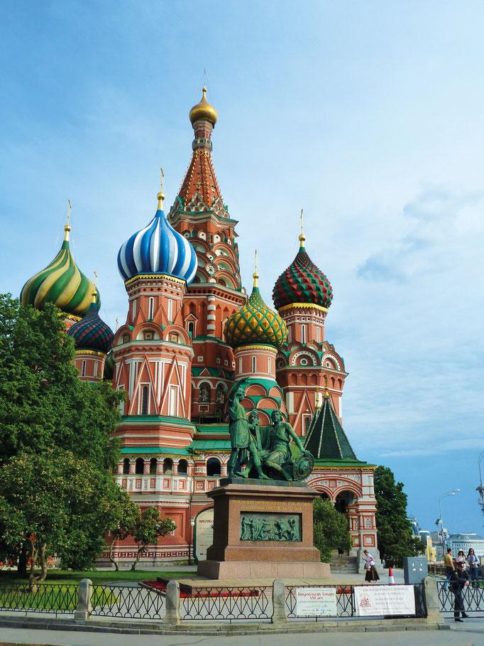 Flusskreuzfahrt auf der Wolga, Wolgakreuzfahrt in Deiner Reiserei, Reisebüro in Berlin Brandenburg, Basilius Kathedrale in Moskau