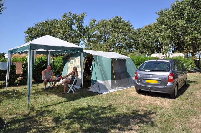 Camping traditionnel sur l'île d'Oléron