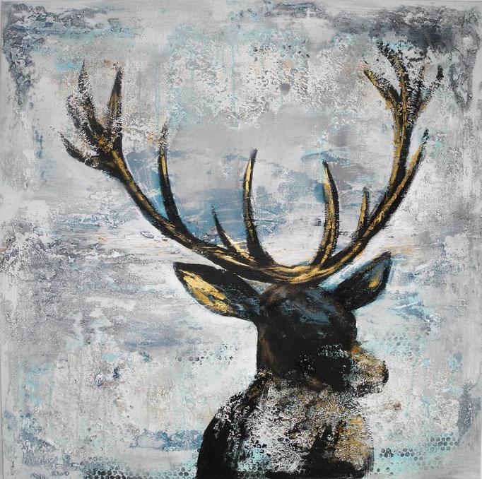 Goldstück, 2013 100 x 100 cm (verkauft)