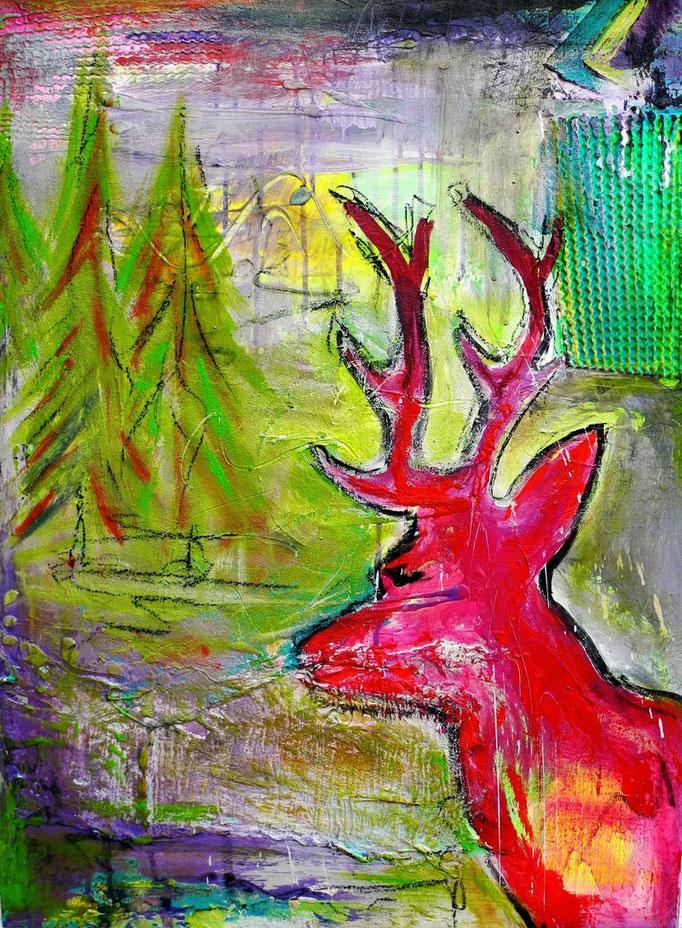 Reh, 2013 80 x 60 cm (verkauft)
