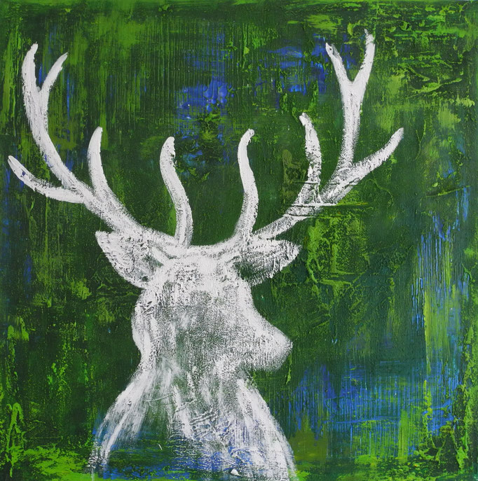 White deer III, 2016 80 x 80 cm