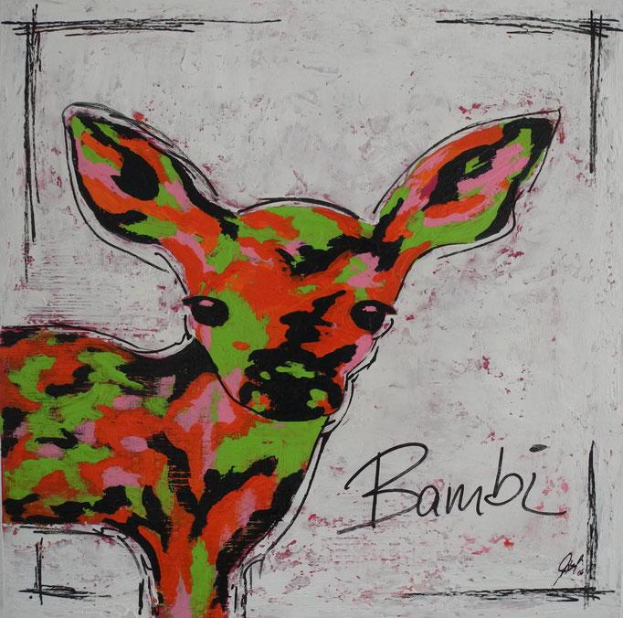 Bambi Pink, 2016 80 x 80 cm