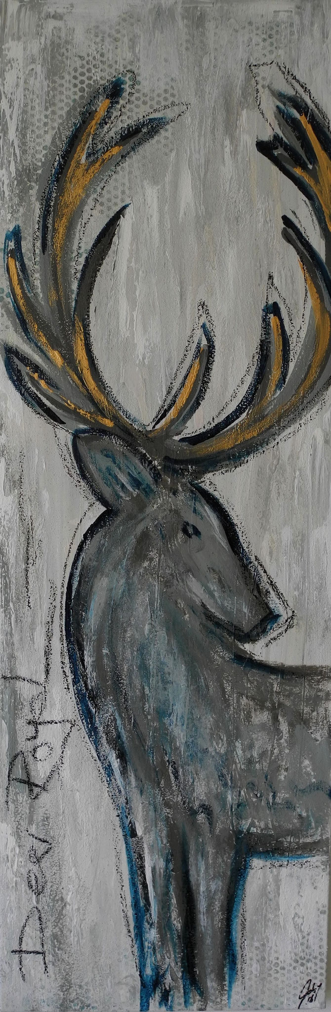 Deer Royal, 2016 150 x 50 cm