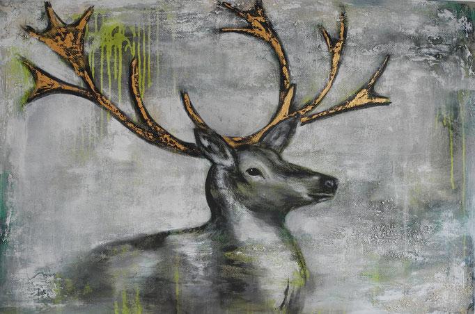 Hirsch, 2013  100 x 150 (verkauft)