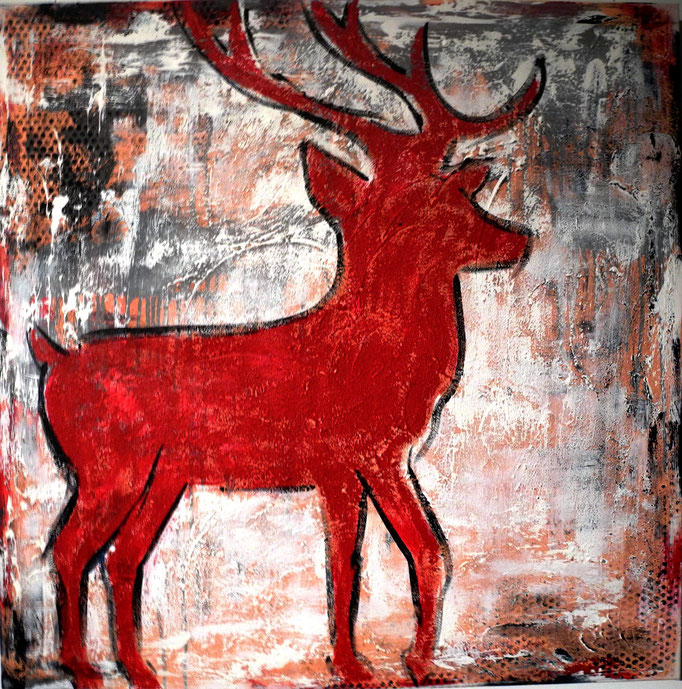 Red deer 100 x 100 cm